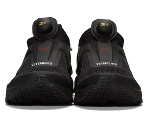 Vetements x Reebok联名Pump Supreme全黑配色
