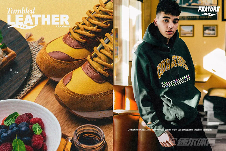 Feature x Saucony 全新联名 Courageous「Belgian Waffle」鞋款